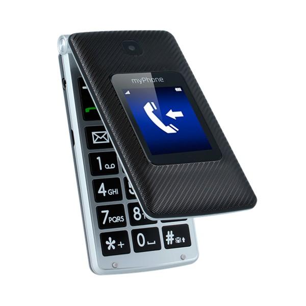Myphone tango 3g negro plata móvil senior dual sim 2.4'' cámara 2mp bluetooth microsd botón sos