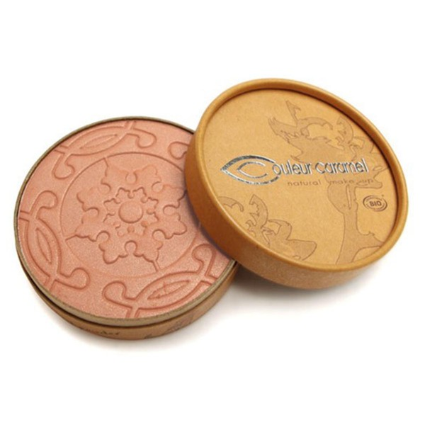 Couleur caramel natural makeup compact bronzer 21 pearly rosy brown