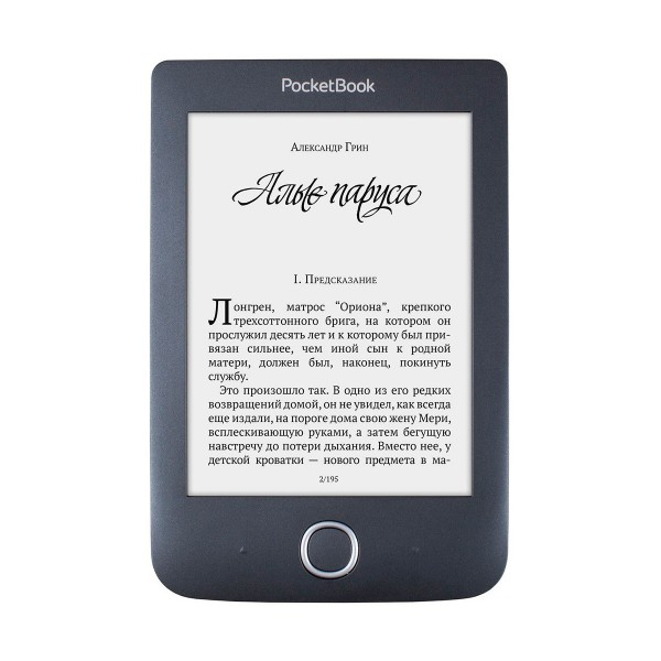 Pocketbook basic 3 negro libro electrónico e-book de 6'' e ink carta con wifi 8gb de memoria ranura microsd