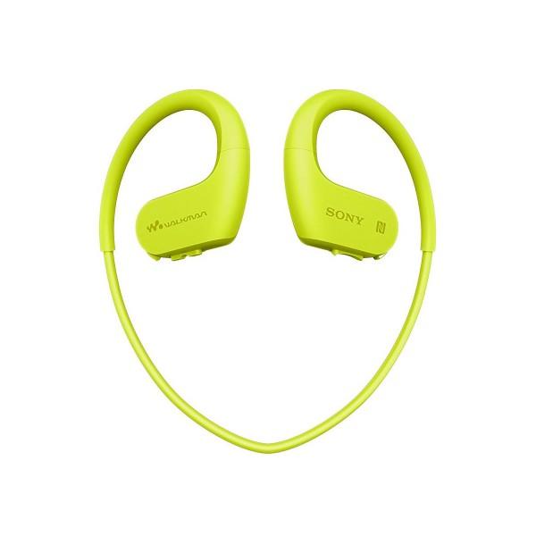 Sony nwws623 verde lima auriculares bluetooth resistentes al polvo y al agua salada