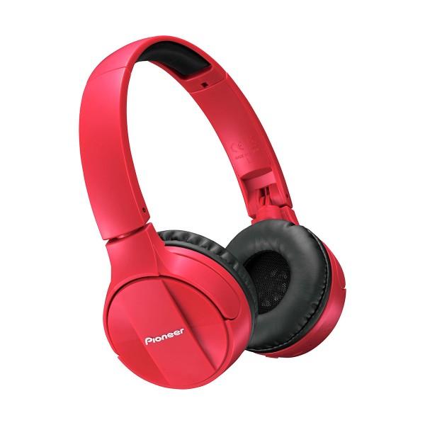 Pioneer se-mj553bt rojo auriculares inalámbricos bluetooth micrófono integrado alta calidad diseño plegable