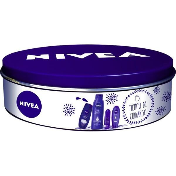 Nivea Estuche de Regalo  : Body Milk Nutritivo 400 ml  + Deo Roll 50 ml + Crema de manos 100 ml  + Gel de ducha 250 ml