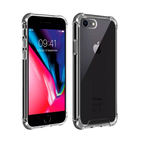 Akashi carcasa trasera transparente resistente apple iphone 7 / 8 angulos reforzados