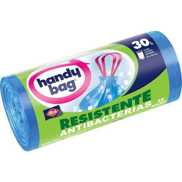 Handy bag bolsas basura Antigoteo rollo  30L 15 bolsas