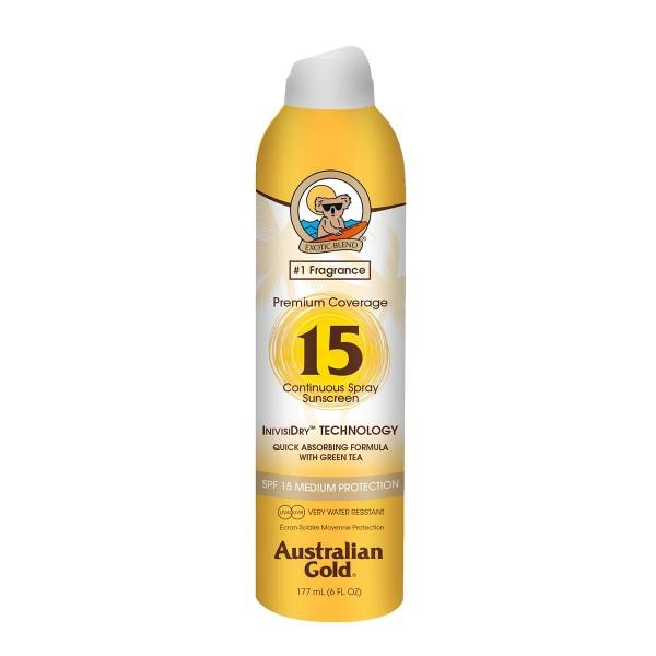Australian gold premium coverage spray spf15 177ml vaporizador