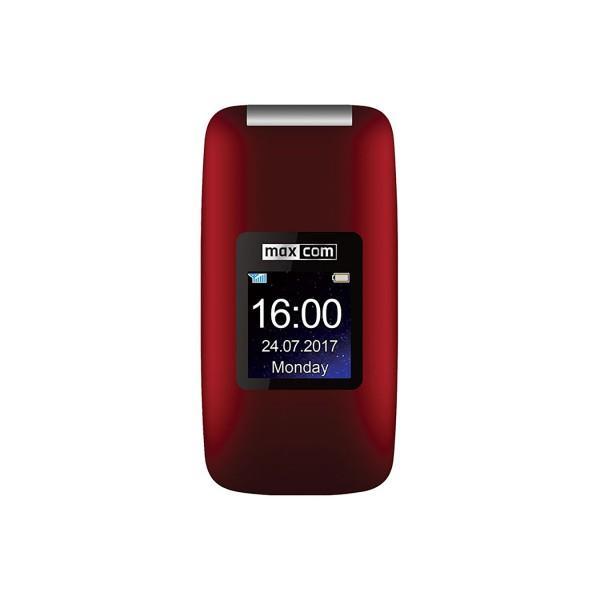 Maxcom mm824 rojo móvil senior tipo concha 2.4'' cámara 2mp botón sos radio fm ranura microsd