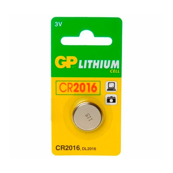 Gp pila litio cr2016 3v blister de 1 unidad