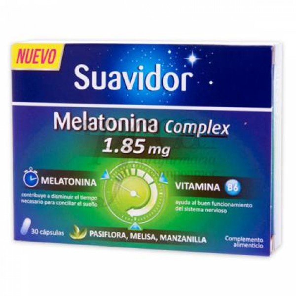 SUAVIDOR MELATONINA COMPLEX 30 CAPS