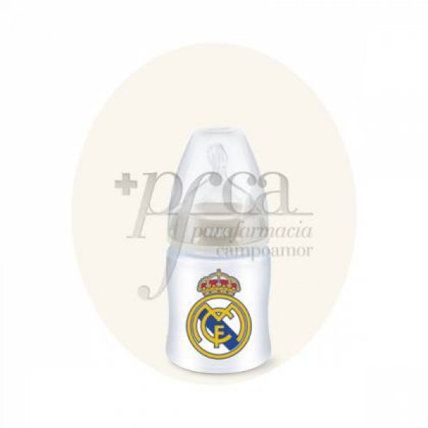 NUK REAL MADRID BIBERON FC SILICONA 150ML 0-6M