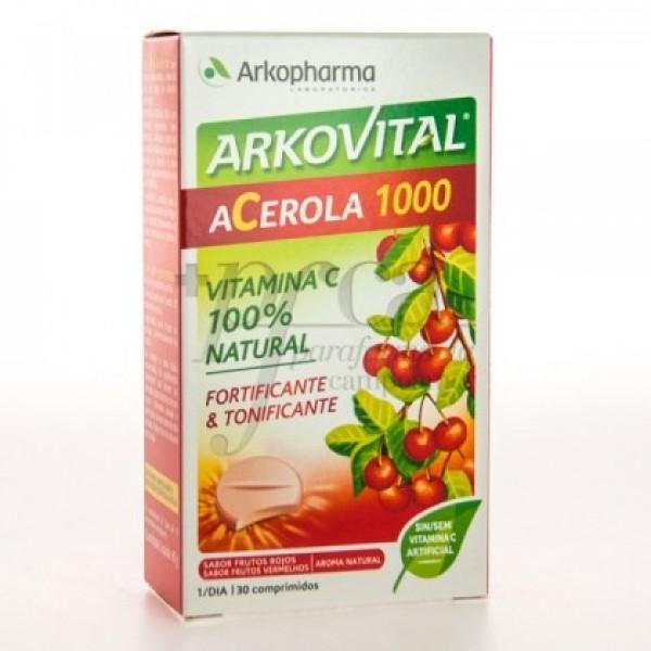 ARKOVITAL ACEROLA 1000 VITAMINA C 30 COMP