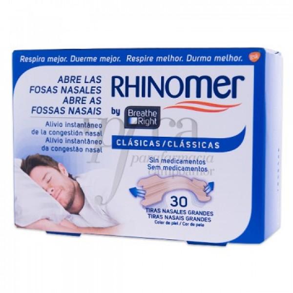 RHINOMER CLASICAS 30 TIRAS NASALES GRANDES