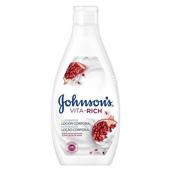 johnson's  vita-rich loción corporal flor de granada iluminador  400ml