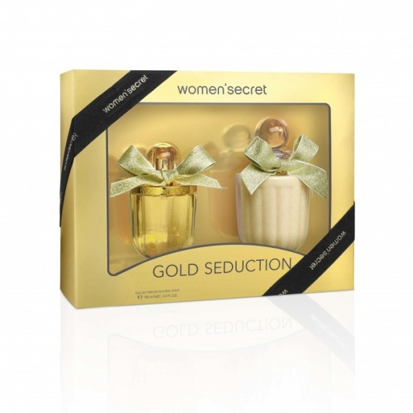 WOMAN SECRET  Set GOLD SEDUCTION EDP 100 ml + Body Lotion 200 m l