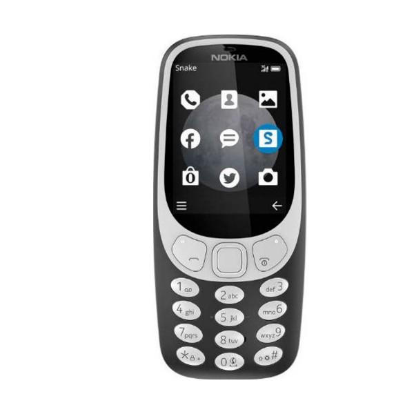 Nokia 3310 (2017) gris teléfono móvil senior 2g 2.4'' tft cámara 2mp bluetooth radio fm