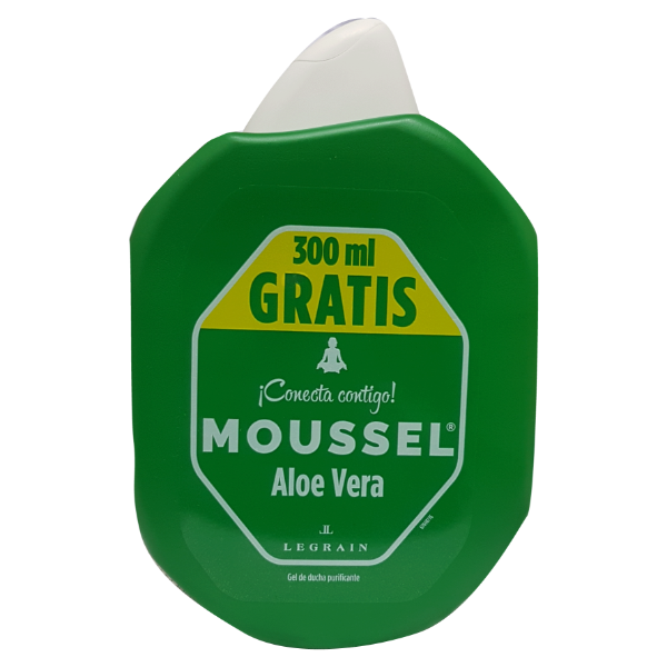 Moussel gel de ducha Aloe Vera 600 ml + 300 ml GRATIS