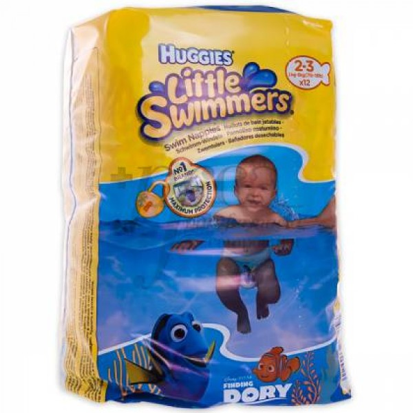 HUGGIES LITTLE SWIMMERS T2-3 3-8KG 12U
