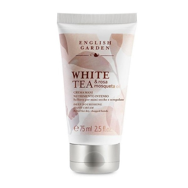 English garden white tea & rosa msoqueta oli hand cream atkinsonss 75ml