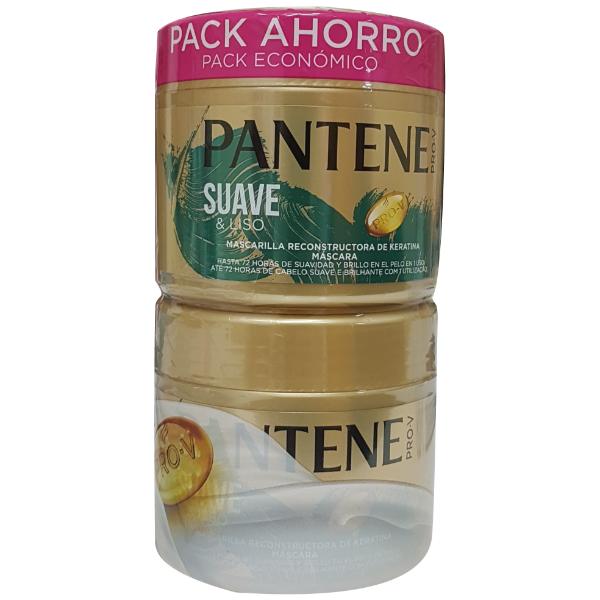 Pantene Mascarilla Suave & Liso PACK AHORRO 2 x 300 ml