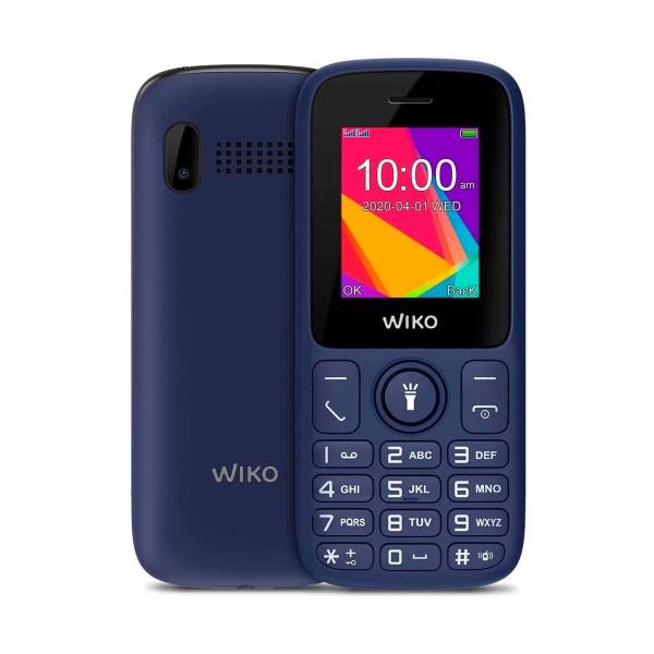 Wiko f100 azul  móvil senior dual sim 1.8'' cámara vga bluetooth radio fm
