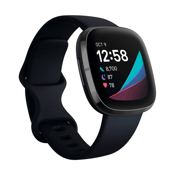 Fitbit sense carbón/grafito smartwatch asistentes google y alexa gps estrés frecuencia sueño temperatura