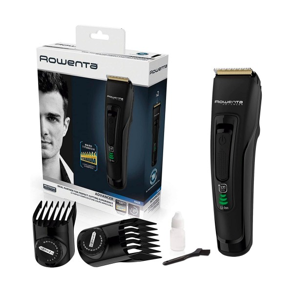 Rowenta tn5200 negro cortapelos advancer + 2 accesorios