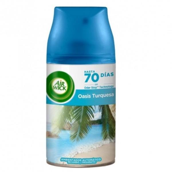 Air wick ambientador freshmatic recambio max-life scents oasis turquesa 250 ml