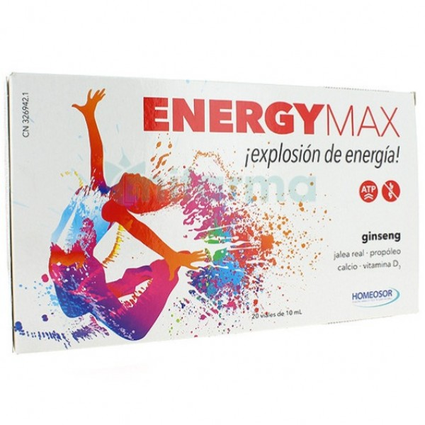 PHARMASOR ENERGY MAX 20 VIALES DE 10ML