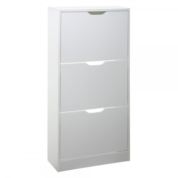 Zapatero de madera 115x60x24cm color blanco