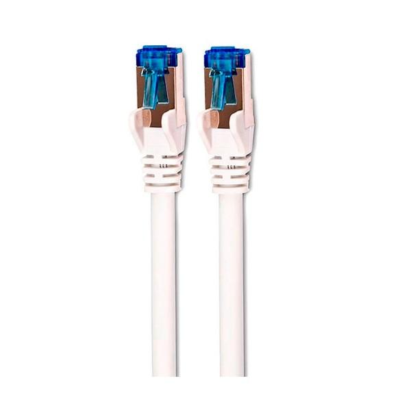 Dcu cable de red rj45 5m cat 6a s/stp blanco/azul