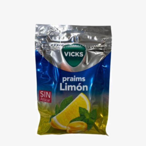 VICKS LIMON CARAMELO DURO CON MENTOL 72 G