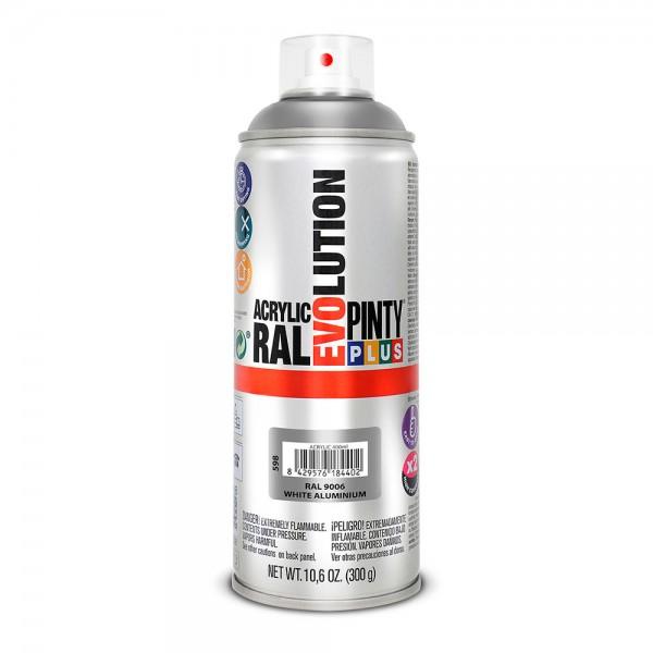 Pintura en spray pintyplus evolution 520cc ral 9006 aluminio blanco