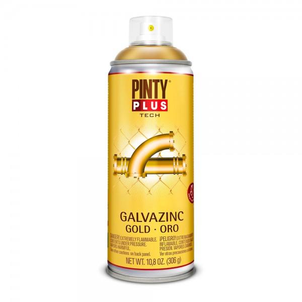 Pintura en spray pintyplus tech galvazinc 520cc oro brillo g151