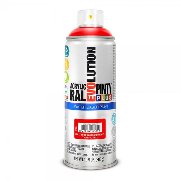Pintura en spray pintyplus evolution water-based 520cc ral 3020 rojo tráfico